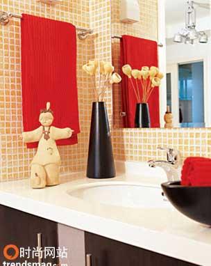 2006经典红色搭配法则--卫浴生活